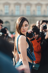 Street Style, Madison Beer arriving at Off-White Menswear Fall Winter 2019 ready-to-wear show, held at Paris Fashion Week, on January 16th, 2019. Photo by Mila Belrose/ABACAPRESS.COM