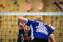Mathijs Apine of Talent Team, Tom van Steenis of Vocasa in action during the first league match in the corona lockdown between Talentteam Papendal vs. Vocasa on January 13, 2021 in Ede.