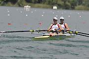 Banyoles, SPAIN,  GBR W2X-, Bow, {R} Beth RODFORD and Katie GREVES.  Women's Double Sculls Repechage,  FISA World Cup Rd 1. Lake Banyoles  Saturday, 30/05/2009  [Mandatory Credit. Peter Spurrier/Intersport Images]