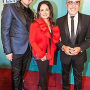 NLD/Utrecht/20171029 - Premiere Musical On Your Feet, Albert Verlinde met Gloria en Emilio Estefan