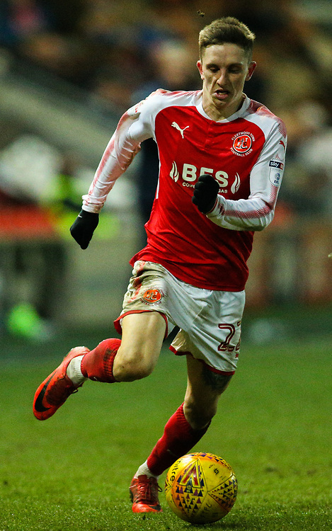 Fleetwood Town's Ashley Hunter<br /> <br /> Photographer Alex Dodd/CameraSport<br /> <br /> The EFL Sky Bet League One - Fleetwood Town v Portsmouth - Tuesday 20th February 2018 - Highbury Stadium - Fleetwood<br /> <br /> World Copyright © 2018 CameraSport. All rights reserved. 43 Linden Ave. Countesthorpe. Leicester. England. LE8 5PG - Tel: +44 (0) 116 277 4147 - admin@camerasport.com - www.camerasport.com