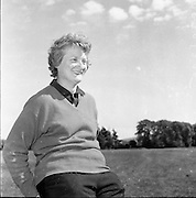 10/05/1961<br /> 05/10/1961<br /> 10 May 1961<br /> Philimena Garvey, Golfer, at Grange Golf Club, Rathfarnham, Dublin.