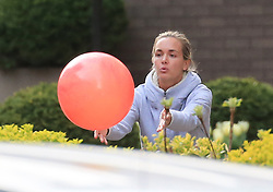 EXCLUSIVE: Donald Trump Jr is all family as he and his Wife Vanessa play football and baseball outside their home in New York. Donald was playing catch with his two children, Daughter Kai and his eldest Son Donald III. Vanessa was also enjoying the New York sunshine playing with a large pink ball whilst Donald changed between the football and wearing a baseball mitt. 12 Apr 2017 Pictured: Donald Trump Jr is all family as he and his Wife Vanessa play football and baseball with their children Kai and Donald III outside their home in New York. Photo credit: MEGA TheMegaAgency.com +1 888 505 6342
