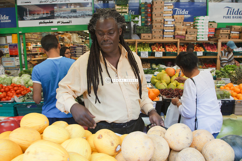 Portrait of black man shopping. Cleared for Mental Health issues.