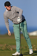 Eoin Murphy (Dundalk) on the 1st tee during Round 4 of The West of Ireland Open Championship in Co. Sligo Golf Club, Rosses Point, Sligo on Sunday 7th April 2019.<br /> Picture:  Thos Caffrey / www.golffile.ie
