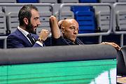 DESCRIZIONE : Eurolega Euroleague 2015/16 Group D Unicaja Malaga - Dinamo Banco di Sardegna Sassari<br /> GIOCATORE : Luigi Peruzzu Stefano Sardara<br /> CATEGORIA : Ritratto Before Pregame<br /> SQUADRA : Dinamo Banco di Sardegna Sassari<br /> EVENTO : Eurolega Euroleague 2015/2016<br /> GARA : Unicaja Malaga - Dinamo Banco di Sardegna Sassari<br /> DATA : 06/11/2015<br /> SPORT : Pallacanestro <br /> AUTORE : Agenzia Ciamillo-Castoria/L.Canu