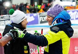Tina Robnik and Ilka Stuhec of Slovenia during the 6th Ladies'  GiantSlalom at 55th Golden Fox - Maribor of Audi FIS Ski World Cup 2018/19, on February 1, 2019 in Pohorje, Maribor, Slovenia. Photo by Vid Ponikvar / Sportida