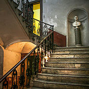 Stair in old building of Sicily