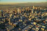 Downtown Los Angeles with San Gabriel & Santa Monica Mountains