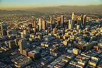 Downtown Los Angeles with San Gabriel & Santa Monica Mountains