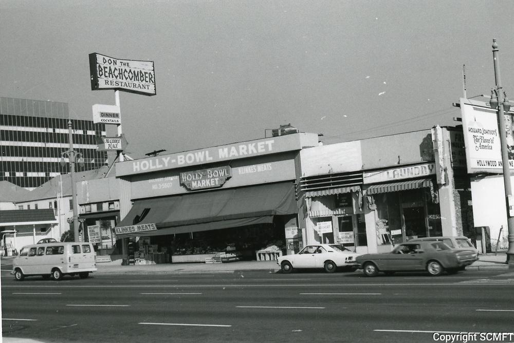 1972 Holly Bowl Market on Highland Ave. near Yucca Ave.
