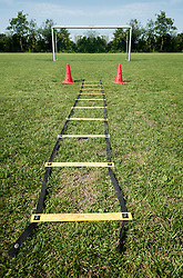 Football pitch training area penalty practice goal