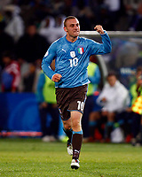 Fotball<br /> 15.06.2009<br /> Italia v USA<br /> Confederations Cup 2009<br /> Foto: Colorsport/Digitalsport<br /> NORWAY ONLY<br /> <br /> Daniele De Rossi of Italy and Roma celebrates his goal.  FIFA Confederations Cup South Africa 2009 <br /> United States of America  v Italy at Loftus Versfeld  Stadium Tshwane/Pretoria South Africa