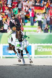 Sandra Auffarth and Opgun Louvo world champion in Eventing - Alltech FEI World Equestrian Games™ 2014 - Normandy, France.<br /> © Hippo Foto Team - Jon Stroud<br /> 31-08-14