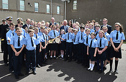 The Prince of Wales meets school children during a visit to the Naval Base, near Cork as part of his tour of the Republic of Ireland.