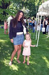 TAMARA MELLON and her daughter MINTY at a children's party to celebrate the launch of the new Baby Dior store in London - held in Eaton Square, London on 8th June 2005.<br /><br />NON EXCLUSIVE - WORLD RIGHTS