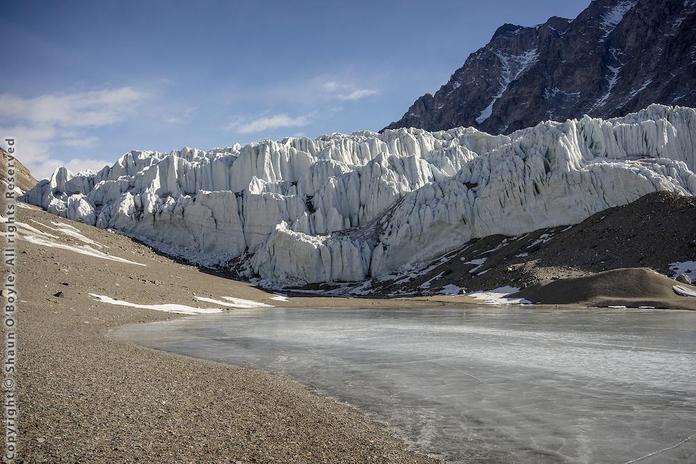 Terminus of the Suess Glacier and Lake Hoare