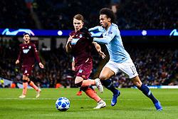 Leroy Sane of Manchester City takes on Dennis Geiger of Hoffenheim - Mandatory by-line: Robbie Stephenson/JMP - 12/12/2018 - FOOTBALL - Etihad Stadium - Manchester, England - Manchester City v Hoffenheim - UEFA Champions League Group stage