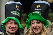 Guiness hats -  the London St Patrick's Day parade from Piccadilly to Trafalgar Square.