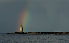 Rainbow over St Baldreds | North Berwick | 30 September 2017