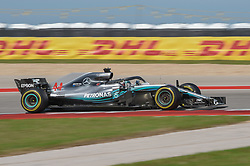 October 21, 2018 - Austin, TX, U.S. - AUSTIN, TX - OCTOBER 21: Mercedes driver Lewis Hamilton (44) of Great Britain races toward turn 10 during the F1 United States Grand Prix on October 21, 2018, at Circuit of the Americas in Austin, TX. (Photo by Ken Murray/Icon Sportswire) (Credit Image: © Ken Murray/Icon SMI via ZUMA Press)