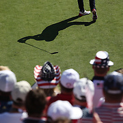 Ryder Cup 2016. Day One. Brandt Snedeker of the United States practices his swing before teeing off at the first hole in the Friday afternoon four-ball competition during the Ryder Cup at  Hazeltine National Golf Club on September 30, 2016 in Chaska, Minnesota.  (Photo by Tim Clayton/Corbis via Getty Images)
