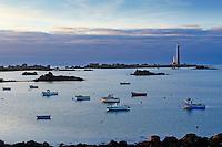 France, Finistère (29), Plouguerneau, île Vierge, phare de l'île Vierge, le plus haut phare d'Europe d'une hauteur de 82,5 mètres, classé au titre des monuments historiques // France, Briitany, Finistere, Plouguerneau, Ile Vierge Light House, 82 metre high