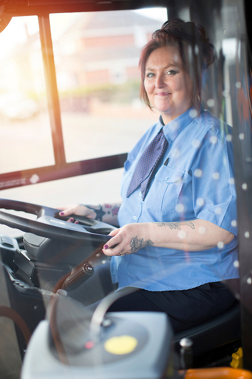 Portraits of Drivers for Stagecoach Bus Company in Barnsley