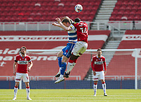 Middlesbrough's Yannick Bolasie battles with Queens Park Rangers' Rob Dickie<br /> <br /> Photographer Alex Dodd/CameraSport<br /> <br /> The EFL Sky Bet Championship - Middlesbrough v Queens Park Rangers - Saturday 17th April 2021 - Riverside Stadium - Middlesbrough <br /> <br /> World Copyright © 2021 CameraSport. All rights reserved. 43 Linden Ave. Countesthorpe. Leicester. England. LE8 5PG - Tel: +44 (0) 116 277 4147 - admin@camerasport.com - www.camerasport.com