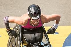 Boston Marathon Kelly Elmlinger of Texas finishes as 14th woman in wheelchair race