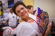 27 JUNE 2012 - GLENDALE, AZ:  MARGIE MAY, 65 years old, dances during rehearsal for the Senior Fiesta Dancers at the Glendale Adult Center, in Glendale, AZ, a suburb of Phoenix. Dancing as a part of workout regimen is not unusual, but the Senior Fiesta Dancers use Mexican style folklorico dances for their workouts. The Senior Fiesta Dancers have been performing together for 15 years. They get together every week for rehearsals and perform at nursing homes and retirement centers in the Phoenix area once a month or so. Their energetic Mexican folklorico dances keep them limber and provide a cardio workout.   PHOTO BY JACK KURTZ
