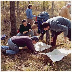 Students in Field Study. Yale School of Forestry & Environmental Studies. Viewbook Illustration