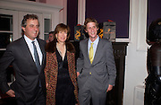 Viscount and Viscountess Astor and Jake Astor, Hot Ice party hosted by Dominique Heriard Dubreuil and Theo Fennell, ( Remy Martin and theo Fennell) at 35 Belgrave Sq. London W1. 26 October 2004. ONE TIME USE ONLY - DO NOT ARCHIVE  © Copyright Photograph by Dafydd Jones 66 Stockwell Park Rd. London SW9 0DA Tel 020 7733 0108 www.dafjones.com