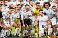 Real Madrid's players during XXXVIII Santiago Bernabeu Trophy at Santiago Bernabeu Stadium in Madrid, Spain August 23, 2017. (ALTERPHOTOS/Borja B.Hojas)