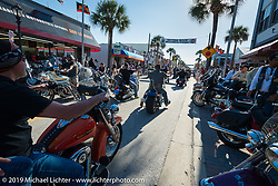 Main Street during Daytona Bike Week. FL, USA. March 14, 2014.  Photography ©2014 Michael Lichter.