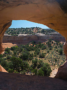 Rainbow Arch, Rattlesnake Canyon, Black Ridge Wilderness, Colorado Canyon National Conservation Area, near Grand Junction, Colorado, USA.