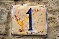 Italie - Toscane - Province de Lucca - Collodi - Numérotation d'une maison - Pinocchio - Village natale de Collodi, auteur de Pinocchio