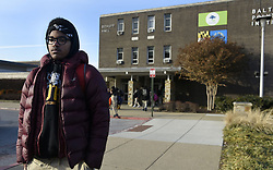 January 3, 2018 - Baltimore, MD, USA - Matthew Cunningham, 18, a senior at Baltimore Polytechnic Institute, talks about the cold temperatures in the school as he leaves for the day on Wednesday, Jan. 3, 2018. Another Baltimore City school, Frederick Douglass High School, closed early due to the cold. (Credit Image: © Kim Hairston/TNS via ZUMA Wire)
