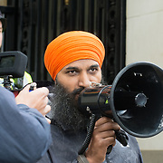 Sikhs join against Australia tyranny Government disguised as Public Health like Modi in India demand Independent Khalistan outside Australia House, London, UK. October 1st 2021.