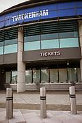 Twickenham, Surrey, UK., Saturday, 13/02/2021, RFU Twickenham Stadium, England vs Italy, behind closed doors, Lock Down, Covid19; Sunny Winter Day,  Blue Sky, White Clouds, Mandatory Credit: Peter Spurrier,