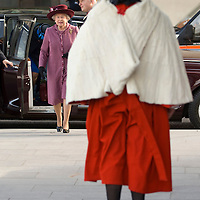 Manchester , England Feb 29th Her Majesty Queen Elizabet II visits  the new £145 Million Manchester Civil Justice Centre