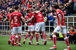 Aden Flint of Bristol City celebrates scoring a goal with team mates - Mandatory by-line: Dougie Allward/JMP - 10/02/2018 - FOOTBALL - Ashton Gate Stadium - Bristol, England - Bristol City v Sunderland - Sky Bet Championship