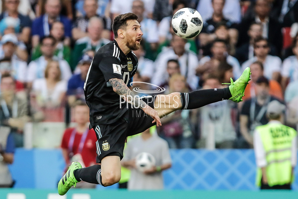 Lionel Messi of Argentina during the 2018 FIFA World Cup Russia, Group D football match between Argentina and Iceland on June 16, 2018 at Spartak Stadium in Moscow, Russia - Photo Thiago Bernardes / FramePhoto / ProSportsImages / DPPI