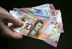 Scottish bank notes.