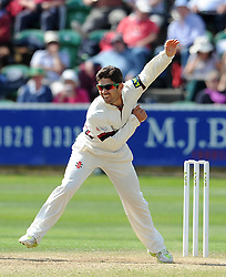 Somerset's Johann Myburgh Photo mandatory by-line: Harry Trump/JMP - Mobile: 07966 386802 - 26/05/15 - SPORT - CRICKET - LVCC County Championship - Division 1 - Day 3 - Somerset v Yorkshire - The County Ground, Taunton, England.