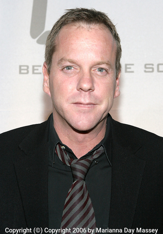 Dec 04, 2006; Hollywood, CA, USA; Actor KIEFER SUTHERLAND arrives at the '24' Season Five DVD launch party held at Les Deux in Hollywood. Mandatory Credit: Photo by Marianna Day Massey/ZUMA Press. (©) Copyright 2006 by Marianna Day Massey