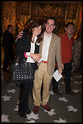 ALEXANDRA NAYLOR & MATTHEW STEEPLES  at the preview of LAPADA Art and Antiques Fair. Berkeley Sq. London. 23 September 2014.