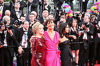 Jane Fonda, Ines de la Fressange, Leila Bekhti  at the gala screening Madagascar 3: Europe's Most Wanted at the 65th Cannes Film Festival. On Friday 18th May 2012 in Cannes Film Festival, France.
