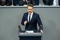 08 DEC 2020, BERLIN/GERMANY:<br /> Otto Fricke, MdB, FDP, Haushaltsdebatte, Plenum, Reichstagsgebaeude, Deuscher Bundestag<br /> IMAGE: 20201208-02-060<br /> KEYWORDS: Rede