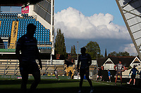 A general view of the action<br /> <br /> Photographer Alex Dodd/CameraSport<br /> <br /> Rugby League - Betfred Challenge Cup Quarter Finals - Catalans Dragons v Warrington Wolves - Friday 7th May 2021 - Emerald Headingley Stadium - Leeds<br /> <br /> World Copyright © 2021 CameraSport. All rights reserved. 43 Linden Ave. Countesthorpe. Leicester. England. LE8 5PG - Tel: +44 (0 116 277 4147 - admin@camerasport.com - www.camerasport.com